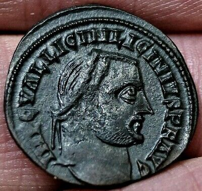 R3 VERY RARE LICINIUS II, JUPITER, Alexandria, Egypt 315 A.D, Ancient Roman Coin