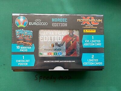 Panini Adrenalyn Euro 2020 Giftbox Limited edition XXL Booster NORDIC EDITION