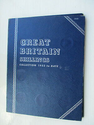 Whitman folder containing collection of Shillings and 5 new pence coins Qty 38