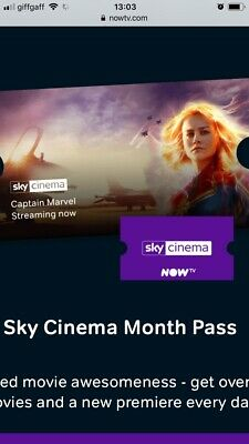 now tv 2 Month entertainment pass And Cinema Pass  (free One Month