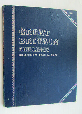 Whitman folder containing collection of Shillings  Qty 35