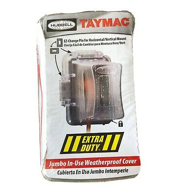 Hubbell Taymac MM720C Bell 1-Gang Non-Metallic WP In-Use Deep Cover Clear