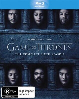 Game of Thrones: The Complete Sixth Season Blu-ray (2016) NEW + SEALED