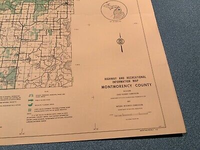 1974 South - Menominee County Michigan  DNR Highway & Recreation Information Map