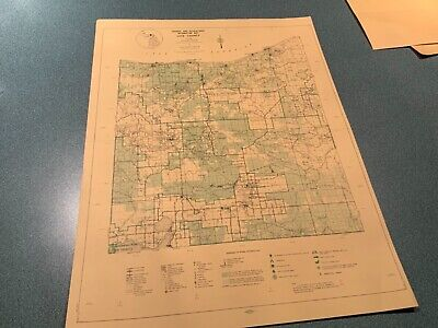 Vintage 1974 Luce County Michigan DNR Highway Recreation Information Map
