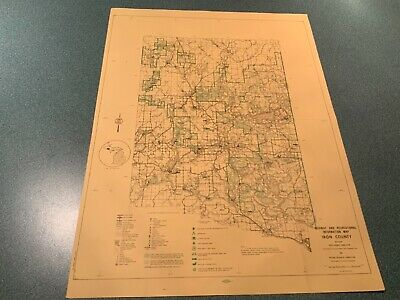 Vtg. 1974 East - Iron County Michigan - DNR Highway & Recreation Information Map