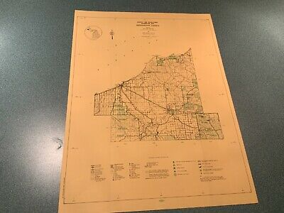 1974 Northeast Ontonagon County Michigan DNR Highway  Recreation Information Map