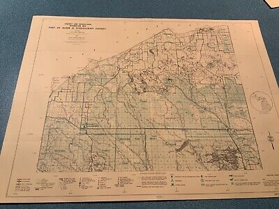 1974 Alger & Schoolcraft County Michigan DNR Highway Recreation Information Map