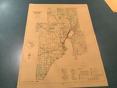 1974 West Part - Delta County Michigan  DNR Highway & Recreation Information Map