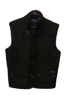 Polo Ralph Lauren Mens Quilted Vest Full Zip Size LT Large Tall NWT Black