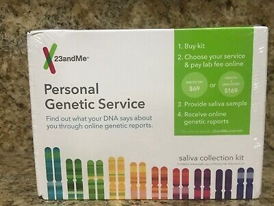 23andMe Genetic Ancestry Test Saliva Collection Kit Sealed New Exp 7/20+