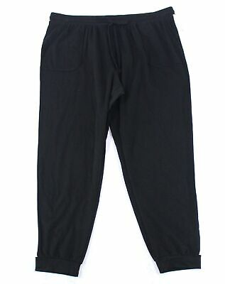 Style & Co. Women's Pants Black Size 0X Plus Relaxed Joggers Stretch $56 #008