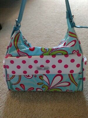 Isabella's Journey Floral Diaper Bag With Pink Diaper Pad