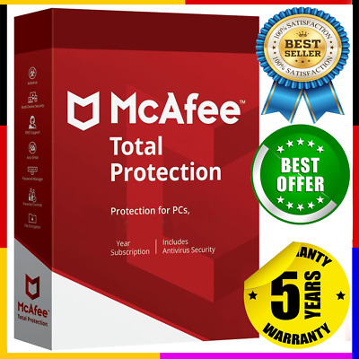 McAfee Total Antivirus 2020 🔰 1 Devices ✔ 5 Years Protection Genuine License 🔥