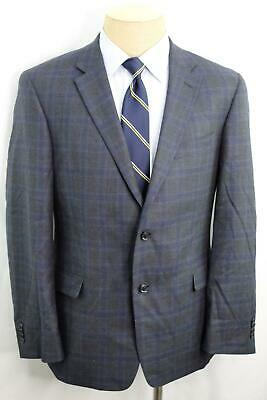 New 42R Tommy Hilfiger Modern Fit Blue Gray Check Mens Wool Suit MA0