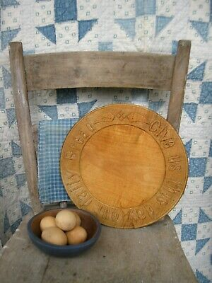 Antique Carved Wood Bread Cutting Board Give Us This Day Free Shipping