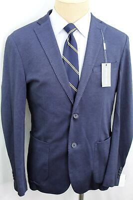 New 42R Michael Kors Slim Fit Blue Soft Cotton Mens Sport Coat Blazer MA0