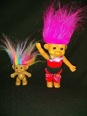 BLUE Sparkle Shine Hair 3 inch NEW Russ Sparkling Good Luck Troll Doll 2973