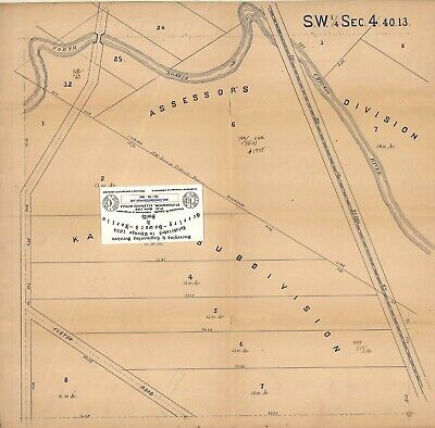Chicago 1894 Map For Ancestry/Genealogy & History Research Near Caldwell Reserve