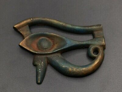 EGYPTIAN ANTIQUES EGYPT EYE OF HORUS Ra Good Health Carved Old STONE BC