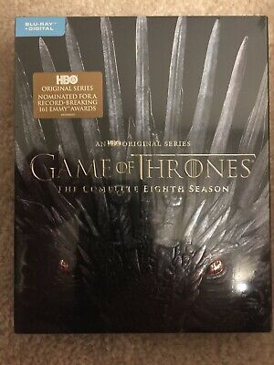 GAME OF THRONES:Season 8, Blu-Ray And Digital DVD, BRAND NEW,FREE SHIP, A+SELLER