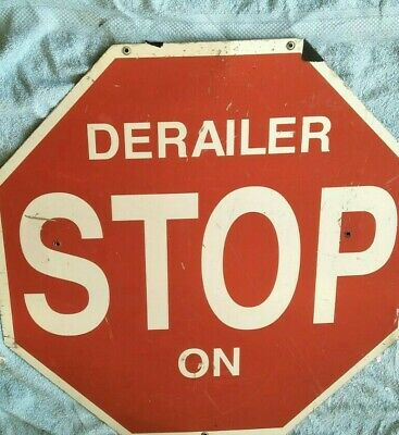 Rare! Old Vintage! Derailer Train Stop Sign From The Busselton Wa Jetty Train!