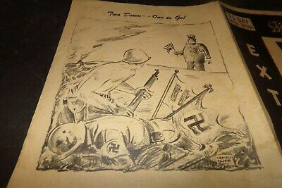 Vintage World War 2 Victory Day Comic Question Soldiers What they Think Pictures