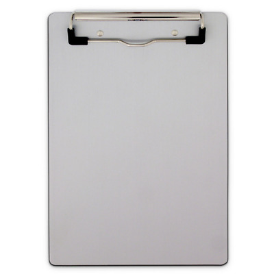 "Saunders Aluminum Clipboard W/ Low Profile Clip Gray 6.5"""" x 9.5"""" 21510"