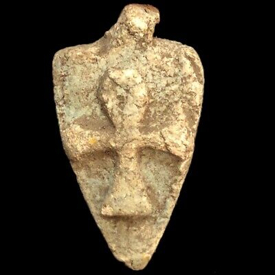 BEAUTIFUL ANCIENT EGYPTIAN ANKH CROSS AMULET 300 BC (4) (meaning Of Life)