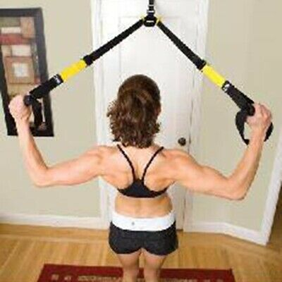 Quality Suspension Straps Training Kit Training Home Gym Fitness Workout System