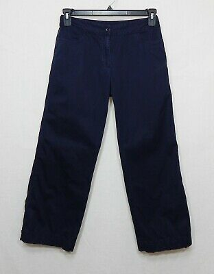 Eileen Fisher Womens Cotton Cropped Pants Xs Small Capri S Spring Trousers Navy