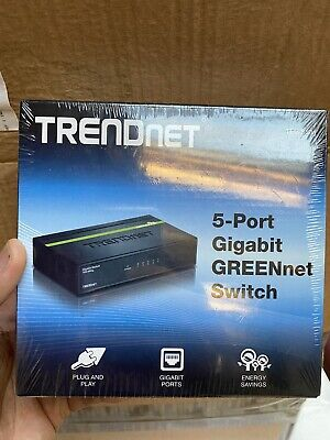 5X10/100/1000Mbps Greennet Gigabit Switch (Metal) NEW