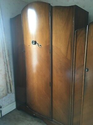 Vintage His & Hers Wardrobes 1950-60s locks working with keys