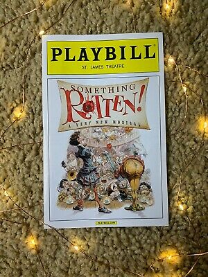 Something Rotten Broadway Playbill OBC In Color Great Condition