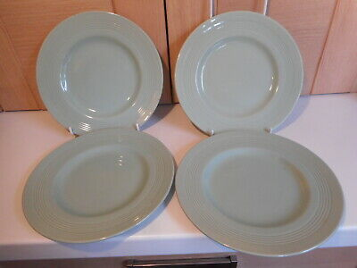 Vintage Green Woods Ware Beryl 4 tea plates 6 7/8 inches Utility Ware set 2