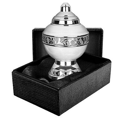 Eternal Hope White Chalice Small Keepsake Urn for Human Ashes  - Qnty 1 - w Case