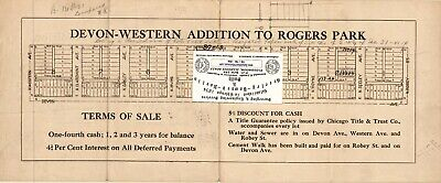 Chicago 1920s Map For Ancestry/Genealogy & History research-ADD to Rogers Park