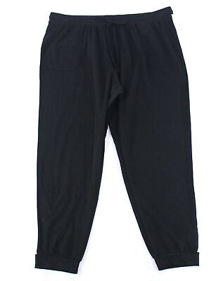 Style & Co. Women's Pants Black Size 0X Plus Relaxed Joggers Stretch $56 #104