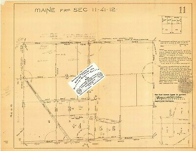 Chicago Area Map For Ancestry/Genealogy & History Research - Part Of Maine TWSP