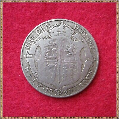 1921 George V Silver Half Crown (2/6) Coin.
