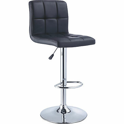 Powell Quilted Bar Stool- Black- One Stool