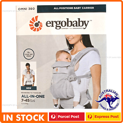 ERGOBABY 360 OMNI COOL AIR MESH ERGO BABY Carrier Pearl Grey colour AU STOCK
