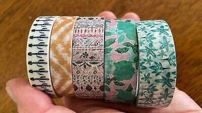 The Planner Society Floral Washi Tape Bundle x 5 Slightly Used - Planner Journal