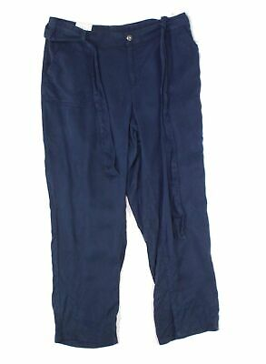 Style & Co. Women's Blue Size 14W Plus High Rise Belted Soft Pants $59 #227