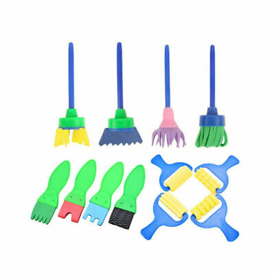 12Pcs Kids Paint Brushes Sponge Painting Brush Tool Set for Children Toddler Toy