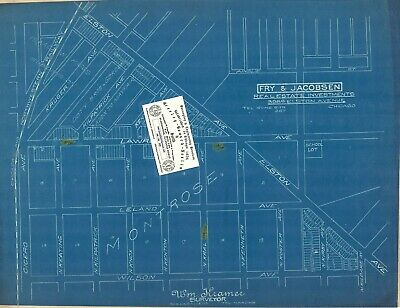Chicago 1923 Advertisement Map: Elston-Lawrence-Cicero by Fry & Jacobsen