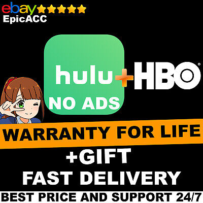 Hulu Premium + HBO + No Ads | Lifetime warranty | FAST DELIVERY