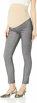 Motherhood Maternity Women's Pants Gray Size Medium PM Petite Stretch $39- #860