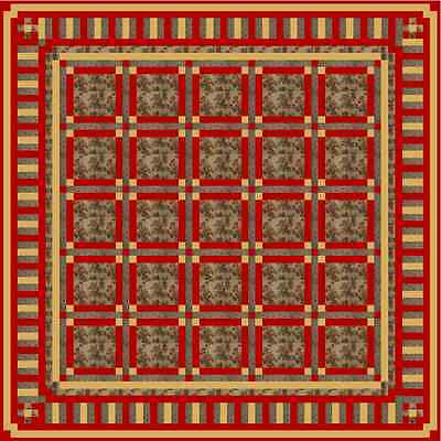 """GRANDMA'S ROSES - 63"""" - Quilt-Addicts Precut Quilt Kit Double size"""