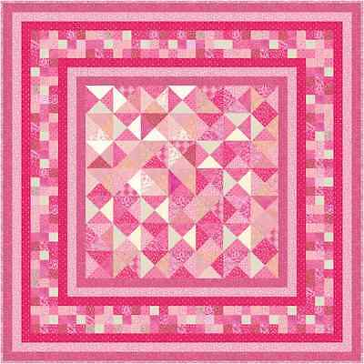 """THINK PINK - 79"""" - Pre-cut Patchwork Quilt Kit by Quilt-Addicts Double"""